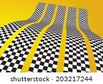 checkered stripes 3d | Shutterstock .eps vector #203217244