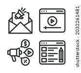 internet marketing icons set....