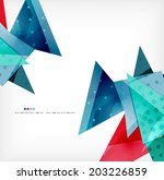 vector 3d geometric shape... | Shutterstock .eps vector #203226859