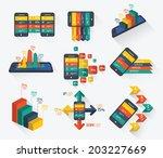 mobile info graphics design for ... | Shutterstock .eps vector #203227669