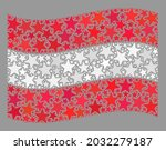 mosaic waving austria flag... | Shutterstock .eps vector #2032279187