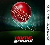 cricket ball | Shutterstock .eps vector #203229109
