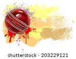 cricket ball | Shutterstock .eps vector #203229121