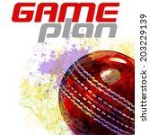 cricket ball | Shutterstock .eps vector #203229139