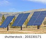 solar panels used in a desert... | Shutterstock . vector #203230171