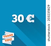 30 euro sign icon. eur currency ... | Shutterstock .eps vector #203235829