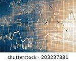 financial data on a monitor | Shutterstock . vector #203237881