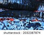Macro Of Burnt Firewood Logs...