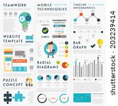 set of infographic elements.... | Shutterstock .eps vector #203239414