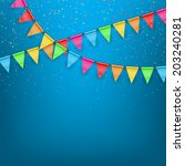 festive background color flags. ... | Shutterstock . vector #203240281