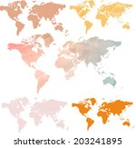 vector. set of world maps
