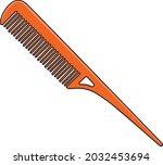 tail comb line vector...   Shutterstock .eps vector #2032453694
