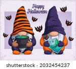 hand drawn cute gnomes in...   Shutterstock .eps vector #2032454237