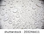 water drops on steel