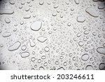 water drops on steel