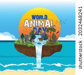 the life cycle of animals.... | Shutterstock .eps vector #2032468241