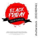black friday inscription on...   Shutterstock .eps vector #2032485461