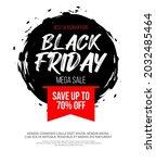 black friday inscription on...   Shutterstock .eps vector #2032485464