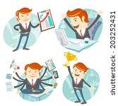vector illustration office man... | Shutterstock .eps vector #203252431