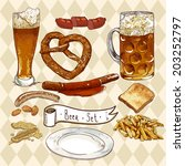 beer set  celebration design... | Shutterstock .eps vector #203252797