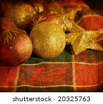 Small photo of old-fashioned agleam christmas balls ornaments