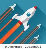 flat design modern vector...   Shutterstock .eps vector #203258071