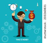 time is money business concept... | Shutterstock .eps vector #203260831