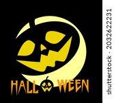 halloween vector  scary pumkins ... | Shutterstock .eps vector #2032622231