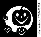 halloween vector  scary pumkins ... | Shutterstock .eps vector #2032622234