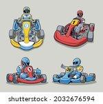 go kart design vector collection   Shutterstock .eps vector #2032676594