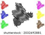 main spessart district  federal ... | Shutterstock .eps vector #2032692881
