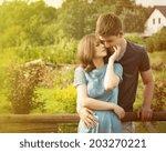 stunning sensual outdoor... | Shutterstock . vector #203270221