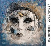 Venice Masque Painting Abstract ...