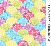 seamless pattern with abstract    Shutterstock .eps vector #203271451