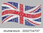 mosaic waving united kingdom... | Shutterstock .eps vector #2032716737
