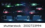 futuristic callouts titles in...