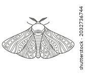 decorative fantastic moth.... | Shutterstock .eps vector #2032736744