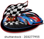 speeding racing cars... | Shutterstock .eps vector #203277955
