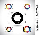 abstract slr camera concept... | Shutterstock .eps vector #203278411
