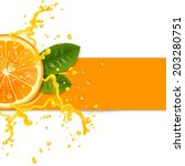 Fresh Orange Background With...
