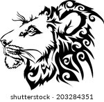 lion vector. | Shutterstock .eps vector #203284351