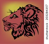 lion vector.   Shutterstock .eps vector #203284357