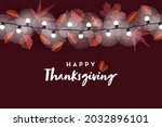 happy thanksgiving  banner...   Shutterstock .eps vector #2032896101