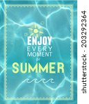 vector background with   enjoy... | Shutterstock .eps vector #203292364