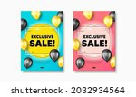 exclusive sale text. flyer... | Shutterstock .eps vector #2032934564