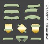 vector set of design elements | Shutterstock .eps vector #203293474