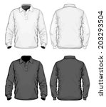 men's polo shirt design... | Shutterstock .eps vector #203293504