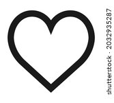 heart vector icon symbol love... | Shutterstock .eps vector #2032935287