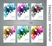 abstract template background... | Shutterstock .eps vector #203294461
