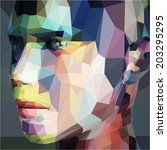 abstract portrait  made of... | Shutterstock .eps vector #203295295